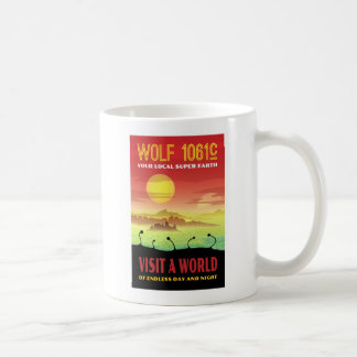 Wolf 1061c Exoplanet Travel Illustration Coffee Mug