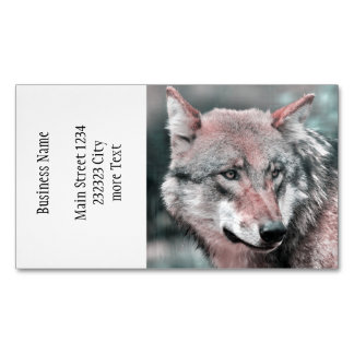 wolf 1115 business card magnet
