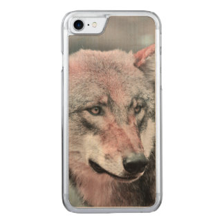 wolf 1115 carved iPhone 7 case