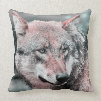 wolf 1115 throw pillow