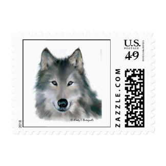 Wolf 1 postage stamp