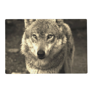 Wolf 215 laminated placemat