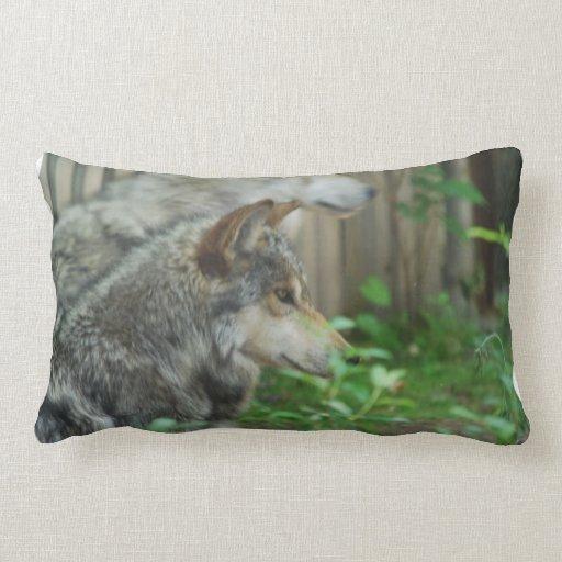 wolf-27 throw pillows