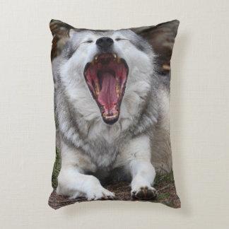 wolf accent pillow