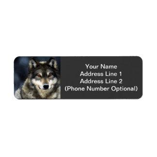 Wolf Address Sticker Labels