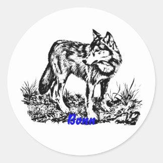 wolf.ai classic round sticker