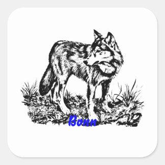 wolf.ai square stickers