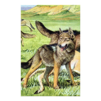 wolf and coyote stationery paper
