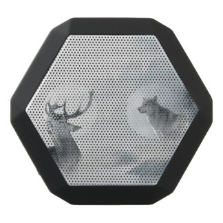 Wolf and Deer Black Bluetooth Speaker