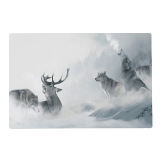 Wolf and Deer Placemat