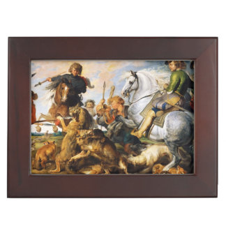 Wolf and Fox hunt Peter Paul Rubens masterpiece Memory Boxes