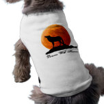 Wolf and full moon Dog T-shirt