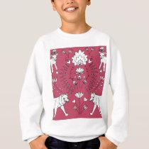 wolf and lamb pattern sweatshirt