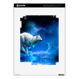 Wolf and Moon Decal For iPad 3