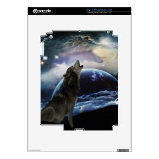 wolf and moon decals for iPad 2
