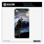 wolf and moon decals for iPhone 4S