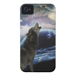 wolf and moon iPhone 4 cover