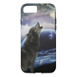 wolf and moon iPhone 7 case