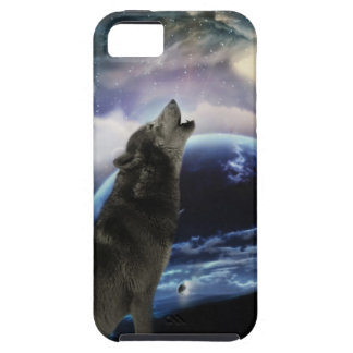 wolf and moon iPhone SE/5/5s case