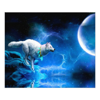 Wolf and Moon Photo Print