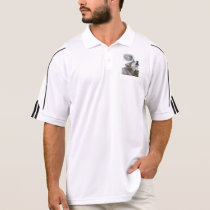 Wolf and moon polo shirt