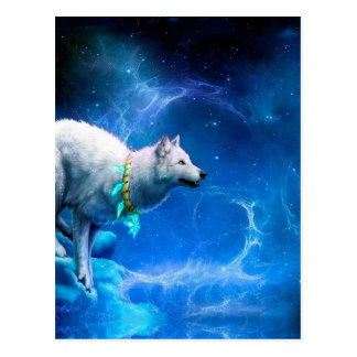Wolf and Moon Postcard
