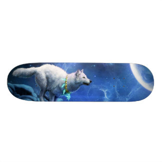 Wolf and Moon Skateboard