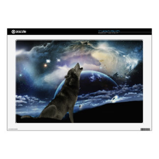 """wolf and moon decals for 17"""" laptops"""