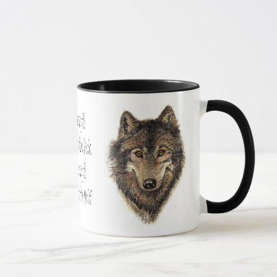 Wolf and Pack Quote - Animal Collection Mug