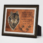 Wolf and Pack Quote Display Plaque