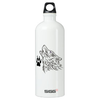WOLF AND PAW PRINT SIGG TRAVELER 1.0L WATER BOTTLE
