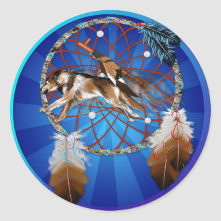 WOLF and PIPE Classic Round Sticker