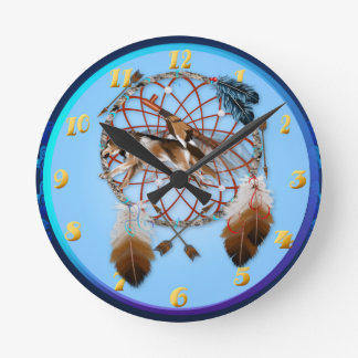 WOLF and PIPE Round Clock
