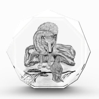 Wolf and Raven black and white design Award