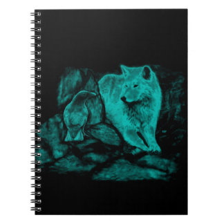 Wolf and Raven in the Night Notebook