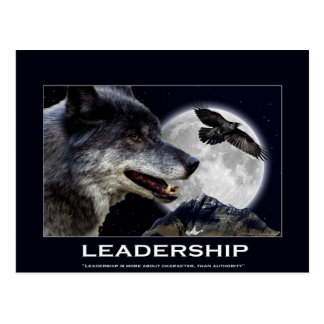 Wolf and Raven Leadership Motivational Gifts Postcard