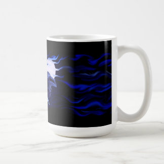 Wolf and Raven with full moon Coffee Mug