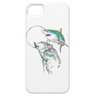 Wolf and Shark Moonlight Iphone Case