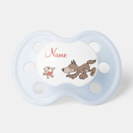 Wolf and Small bird Pacifier