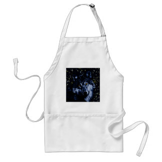 Wolf and stars adult apron