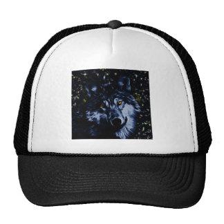 Wolf and stars trucker hat