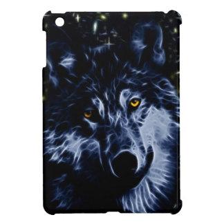 Wolf and stars iPad mini case