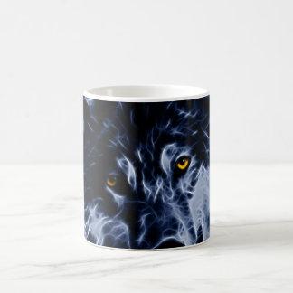 Wolf and stars classic white coffee mug