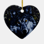 Wolf and stars ornament
