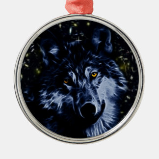 Wolf and stars christmas ornaments