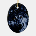 Wolf and stars ornaments