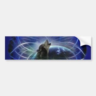 Wolf and the dreamcatcher car bumper sticker