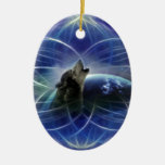 Wolf and the dreamcatcher christmas ornaments