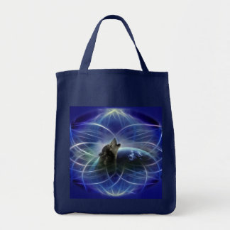 Wolf and the dreamcatcher tote bag