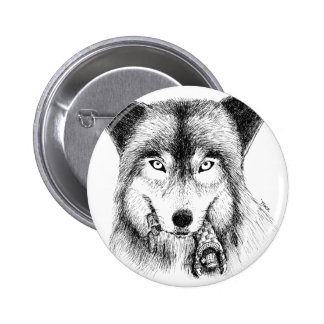 Wolf and Unlucky Little Guy Button